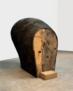 """Martin Puryear, Confessional, 1996-2000; Wire mesh, tar, and various woods, 6' 5 7/8"""" x 8' 1 ¾"""" x 45"""" (197.8 x 247 x 114.3 cm); Cartin Collection, courtesy Donald Young Gallery; Chicago; © 2007 Martin Puryear; Image courtesy Donald Young Gallery, Chicago"""