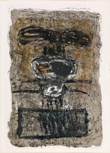 George Miyasaki (b. 1935, Kalopa, Hawaii–lives in Berkeley, CA) The Flying Machine, 1961. Color lithograph. 86.2 x 58 cm (image), 91.8 x 66 cm (sheet). Fine Arts Museums of San Francisco.