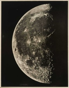 Edward L. Allen and Frank Rowell, The moon, made at the Observatório Nacional, Cordoba, Spain, 1876; Carbon print; 20 1/2 x 16 1/4 in. (52.1 x 41.3 cm); Stephen White Collection II, Los Angeles.