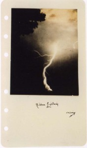 William N. Jennings, Ribbon Lightning, ca. 1885, gelatin silver print, George Eastman House, Rochester, NY, gift of 3M Company, ex-collection Louis Walton Sipley.