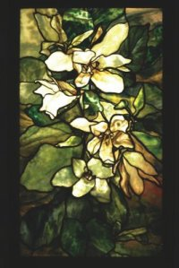 Tiffany Studios (American, 1900-1932). Magnolia Window. Lead, stained glass, 1900. State Hermitage Museum.