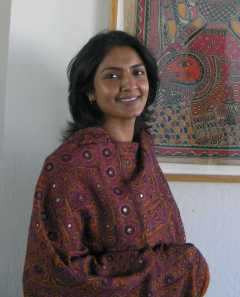 "Malini Bakshi, founder of Pink Mango, at Petaluma Arts Center ""A Feast of Color"""