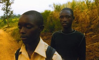 """Sangwa and Munyurangabo from Lee Isaac Chung's """"Munyurangabo.""""  Image courtesy of Film Movement."""