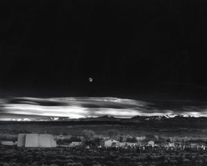 Ansel Adams, Moonrise, Hernandez, New Mexico, 1941; gelatin silver print; 15 9/16 x 19 11/16 in. (39.5 x 50.0 cm); Collection of the Center for Creative Photography, University of Arizona; © 2009 The Ansel Adams Publishing Rights Trust