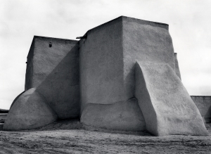 Ansel Adams, Saint Francis Church, Ranchos de Taos, New Mexico, c. 1929; gelatine silver print; 13 5/16 x 17 9/16 in. (33.8 x 44.6 cm); Collection of the Center for Creative Photography, University of Arizona; © 2009 The Ansel Adams Publishing Rights Trust.
