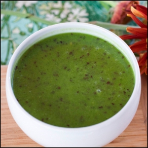 Go green! After trying Lydia's Green Soup, a raw, organic, vegan, and gluten-free revitalizing super soup your body will thank you. Green Soup is Lydia's Lovin' Foods' best seller and is a healthful blend of kale, cucumber, celery, parsley, cilantro, basil, avocado, dulse seaweed, lemon, ginger and salt. Photo: courtesy Lydia's Lovin' Foods.