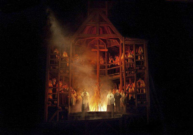 """The final scene from mussorgsky's """"khovanshchina,"""" at the"""