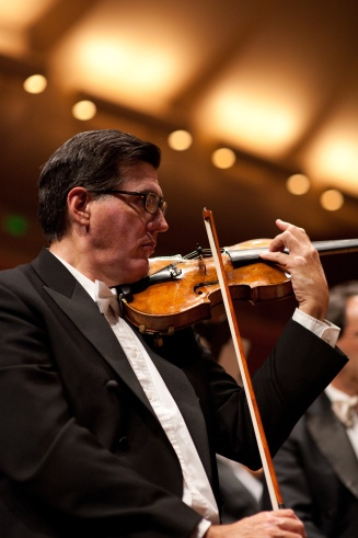"San Francisco Symphony Assistant Concertmaster and violinist Mark Volkert will have the world premiere of ""Pandora,"" his work for strings on Thursday, December 6, 2012, when SFS plays the first concert in an annual 4 concert series at the Green Music Center.  Photo: courtesy SFS"