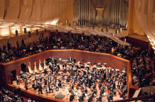 Davies Symphony Hall was built in 1980 and is the permanent home of the San Francisco Symphony Orchestra and Chorus.  The hall was designed by Pietro Belluschi and seats 2,743 people.  Image: SFS