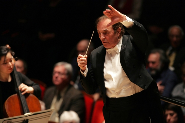 Swiss conductor Charles Dutoit conducts the San Francisco Symphony in the second of a four concert series at Weill Hall on Thursday, January 31, 2013.  Photo: courtesy SF Symphony.