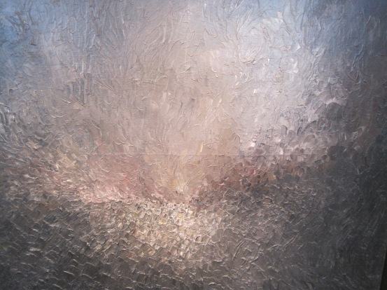 "Jay DeFeo, ""Song of Innocence,"" (1957), oil on Canvas, 40"" x 40,"" the Jay DeFeo Trust."