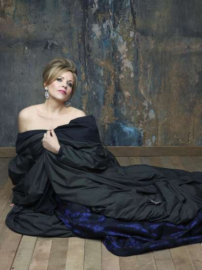 America's regal soprano, Renée Fleming, will perform an all French program, including a new Debussy arrangement, on January 10, 12 and13, and in duo recital with Susan Graham on January 16, 2013, both at Davies Symphony Hall.  Photo: @Decca/Andrew Eccles