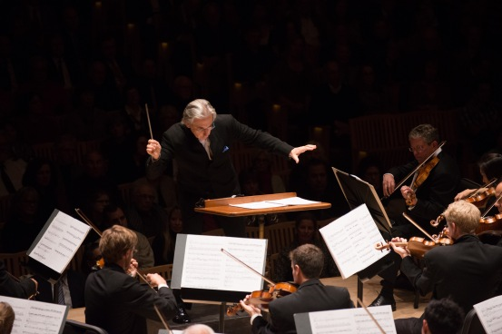 Michael Tilson Thomas (MTT) conducts the San Francisco Symphony Orchestra at Weill Hall on December 6, 2012, in their first of four concerts this season.   In Feburary, , the Orchestra's recording of Bay Area composer John Adams' works won a 2013 Grammy Award, the 15th Grammy win for SFS.  Photo: courtesy SFS