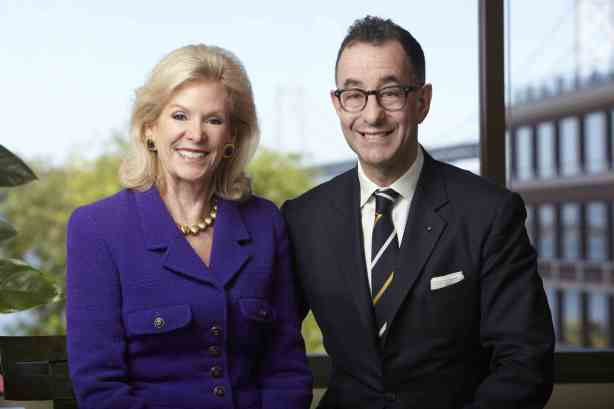 Diane B. Wilsey and Colin B. Bailey, the new director of FAMSF, who will start June 1, 2013.  Photo: Bill Zemanek