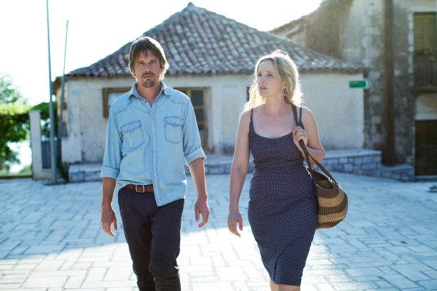 "A scene from Richard Linklater's ""Before Midnight,"" which follows Jesse (Hawke) and Celine (Delpy), who first met on a train to Vienna (""Before Sunrise"") and reconnected in Paris nine years later (""Before Sunset""), and now another nine years have passed and they are navigating the complications of careers, kids, a long-term committed relationship and unfulfilled dreams. Closing night film at SFIFF 56.  Photo: courtesy of the San Francisco Film Society"