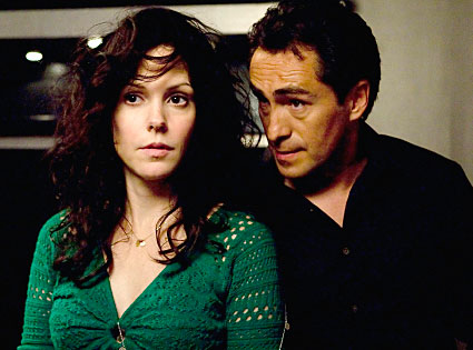 "Mary-Louise Parker (left) as drug dealing Nancy and Demián Bichir as Tijuana mayor, jilted husband and devoted daddy, Esteban Reyes, on the Showtime TV series ""Weeds"" which ran 8 seasons.  Parker and Bicher will be honored with a Spotlight Award at SIFF on Saturday, April 13, 2013.  Image: courtesy Showtime"