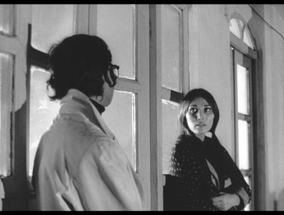 "A scene from Bahram Beyzai's ""Downpour"" (1971), hailed as one of the great Iranian films for its poetic approach to editing, dialogue and context.  Restored by World Cinema Foundation in 2011, the film screens at SIFF 56 with Beyzaie in attendance.   Photo: courtesy of the San Francisco Film"