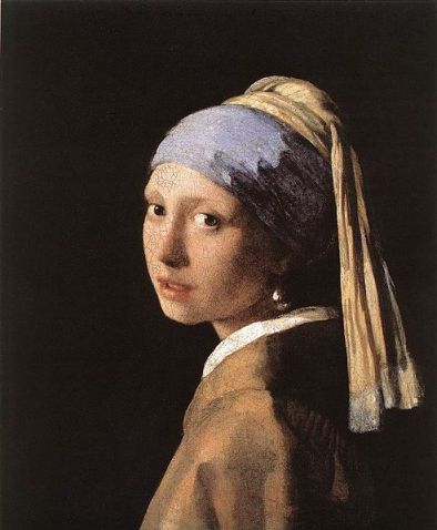 """Girl With a Pearl Earring,"" Johannes Vermeer, 1665, 44.5 x 39 cm."