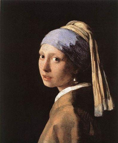 """Girl With a Pearl Earring,"" Johannes Vermeer, 1665, 44.5 x 39 cm."
