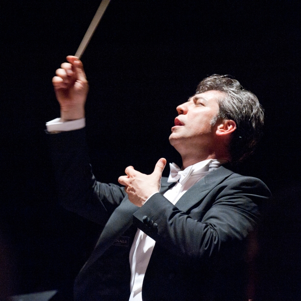 Nicola Luisott conducts the San Francisco Opera Orchestra in concert on Friday, May 17 at 8 p.m. at UC Berkeley's Zellerbach Hall. The program includes Nino Rota's rarely performed Piano Concerto in C featuring Italian pianist Giuseppe Albanese, Puccini's Capriccio Sinfonico and Brahms' Symphony No. 3 in F major. Photo: Terrence McCarthy