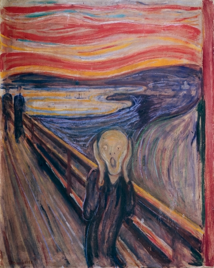 "Edvard Munch's ""The Scream,"" (1893), National Museum, Oslo @Munch Museum)"