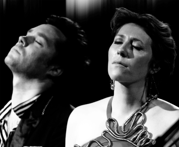 "A scene from Lian Lunson's documentary ""Sing Me The Songs that Say I Love You"" (2012), which features Rufus and Martha Wainwright performing in and hosting a tribute concert in May 2011, at New York City's Town Hall Theatre, to their late mother, Canadian folk singer, Kate McGarrigle.  The film screened at the 56th San Francisco International Film Festival in May 2013.  Photo courtesy San Francisco Film Society"