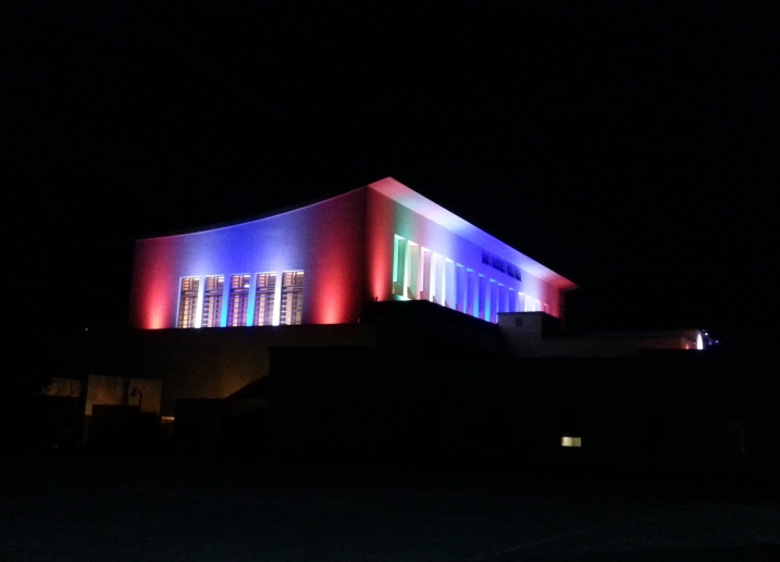 It might look like the Parthenon but it's Green Music Center's Weill Hall celebrating the 4th.  The music begins at  7:30 featuring santa Rosa Symphony and the fireworks start at 9:15 p.m.   Image: Geneva Anderson