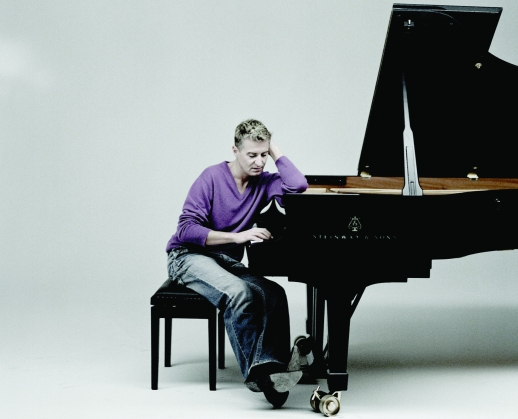 French pianist Jean-Yves Thibaudet performs with the Grammy award-winning Russian National Orchestra, conducted by Carlo Montanaro at Weill Hall on Tuesday, July16, 2013. Violinist Sarah Cheng also guest solos.