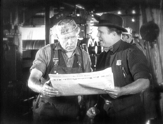 "Ralph Lewis (left) and Tom O'Brien (right) are pressmen for the San Francisco Chronicle in Emory Johnson's newly restored ""The Last Edition,"" screening for the first time in 83 years at the 18th SF Silent Film Festival on Sunday.  The film was found in a film archive in the Netherlands two years ago.  Originally shot on highly degradable nitrate film, it required two years of dedicated restoration.  Image: courtesy SFSFF."