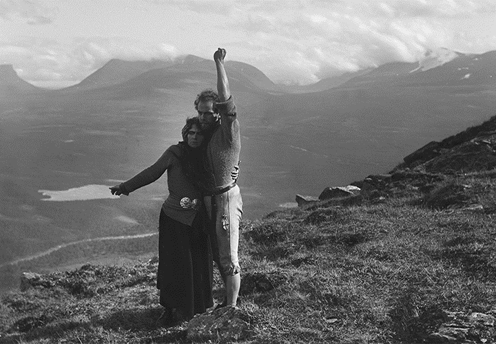 "Johann Sigurjonson's classic ""The Outlaw and His Wife,"" newly-restored by the Swedish Film Institute, screens Sunday at the San Francisco Silent Film Festival.  Edith Erastoff plays the strong widow, Halla, who falls in love with drifter Berg-Eyvind, played by Victor Sjöström.  Image: courtesy Swedish Film Institute"