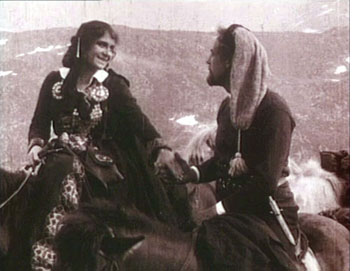 "Johann Sigurjonson's classic ""The Outlaw and His Wife,"" newly-restored by the Swedish Film Institute, is one of cinema's great romances.  Edith Erastoff plays the widow, Halla, who falls in love with drifter Berg-Eyvind, played by Victor Sjöström, and gives everything up to run away with him.  Image: courtesy Swedish Film Institute"