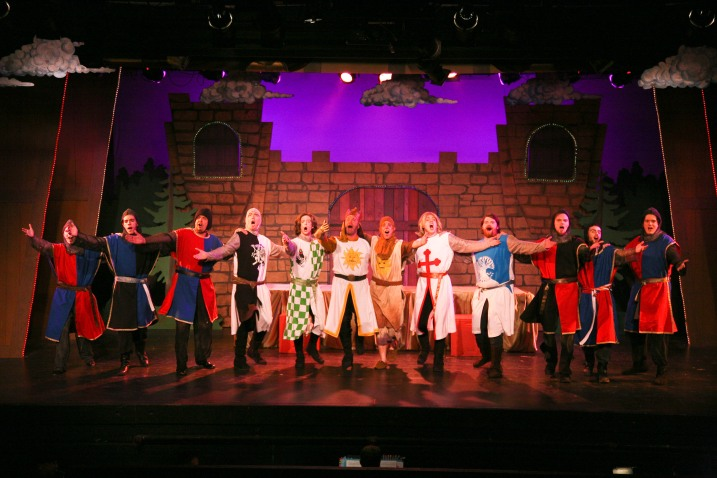 """Spamalot"" at Santa Rosa's 6th Street Playhouse through September 22, 2013 is a medley of song, slapstick and silly fun that lovingly recounts the exploits of King Arthur and features a large cast of mainly local performers.  The original 2005 Broadway show received 3 Tony Awards and was seen by over two million people.  Photo: Eric Chazankin."