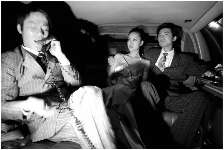 Yang Fudong: Mrs. Huang at M Last Night, 2006; black-and-white C-print; 47¼ × 70⅞ in.; courtesy of the artist, Marian Goodman Gallery, Paris/New York, and ShanghART Gallery, Shanghai.