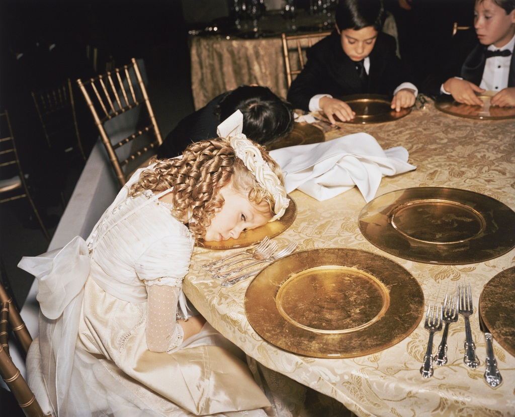 """For over four years, Mexican photographer Yvonne Venegas was permitted to document the family and home of Maria Elvia De Hank, wife of millionaire Jorge Hank Rohn, the former mayor of Tijuana.  """"Nirvana"""" from the series """"Maria Elvia De Hank"""" points to the early roots of the exhausting and contradictory life of privilege. 2006; inkjet print; 19 1/2  x 24 in.; Collection SFMOMA; © Yvonne Venegas"""