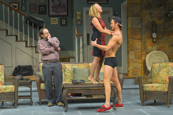 "(l to r) Leading Bay Area actor Anthony Fusco (Vanya), award-winning actress Lorri Holt (Masha), and stage and TV actor Mark Junek (Spike) star in Christopher Durang's ""Vanya and Sonia and Masha and Spike"" at Berkeley Rep through October 25, 2013. Photo courtesy of kevinberne.com"