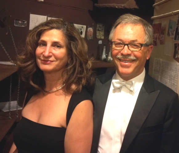 San Francisco Symphony Violist Wayne Roden and his wife, novelist Barbara Quick backstage at San Francisco Symphony.   Photo: Geneva Anderson