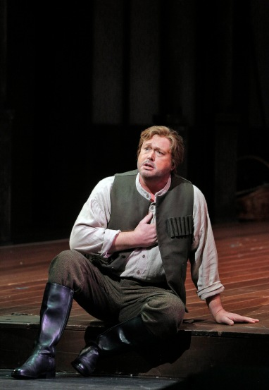 """Ian Storey is Eric, the huntsman, who is jilted by Senta in Richard Wagner's """"The Flying Dutchman,"""" at SFO through November 15, 2013.   Photo: Cory Weaver, SFO"""