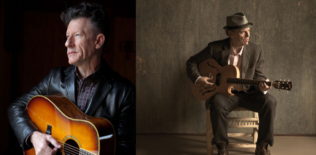 Lyle Lovett (L) and John Hiatt (R) perform Monday, November 18, at Green Music Center's Weill Hall.  Not just for classical music, Weill Hall, with its stellar acoustics, has already hosted Herbie Hancock, Silk Road Ensemble, John Batiste and Stay Human, and Mariza.   Photo: Green Music Center