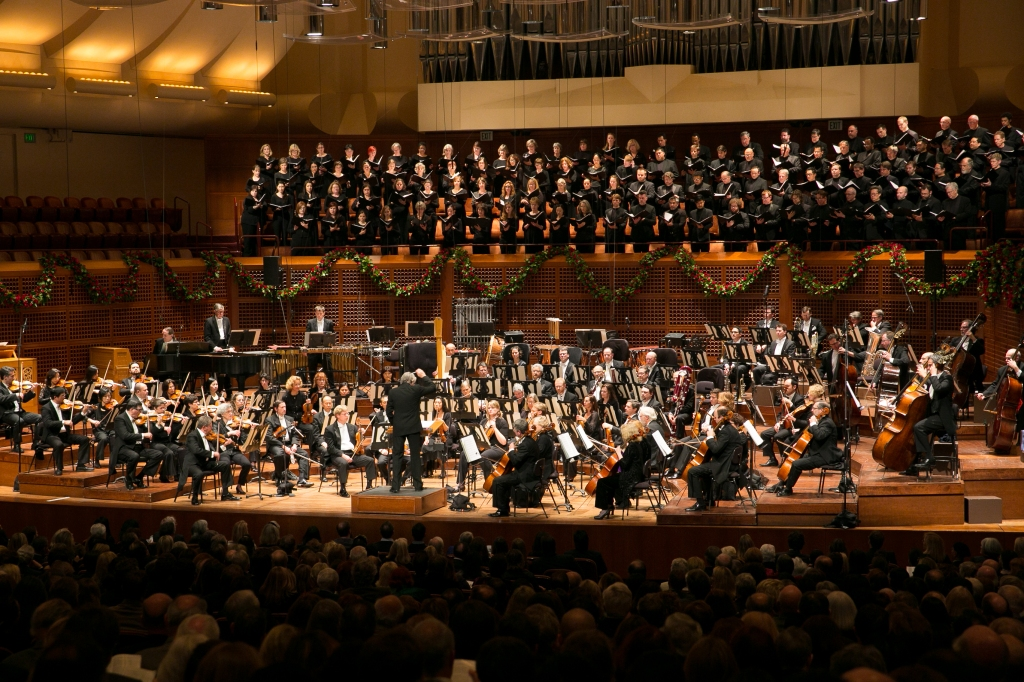 Michael Tilson Thomas, the San Francisco Symphony and Chorus in the world premiere of Gordon Getty's A Prayer for My Daughter.  Photo: Moanalani Jeffrey Photography