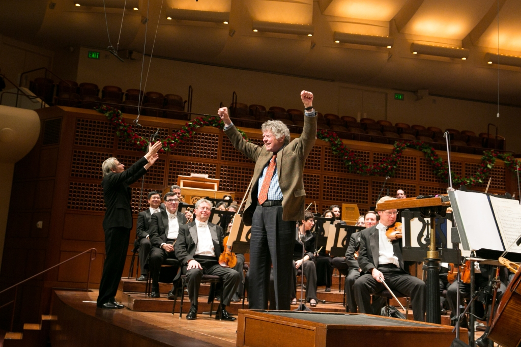 "Gordon Getty on stage at Davies Symphony Hall after the world premiere his new work, ""A Prayer for My Daughter.""  Photo: Moanalani Jeffrey Photography"