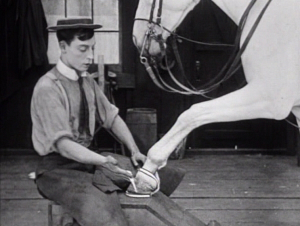 "A never before seen alternate version of the Buster Keaton short ""The Blacksmith,"" featuring several minutes of previously unseen footage, will screen at the 19th San Francisco Silent Film Festival on Saturday, May 31, as part of Serge Bromberg's ""Treasure Trove.""  The presentation includes film historian Fernando Peña, from Argentina, in conversation with celebrated film historian Serge Bromberg.  Image: courtesy SFSFF"