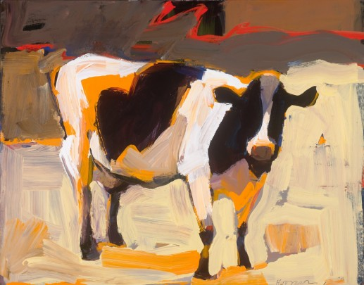 "Sonoma County artist, Dana Hooper spontaneously paints animals and things bathed in gorgeous light.  ""Cowgirl,"" 24 x 36, acrylic on canvas.  courtesy: DanaHooper.com"