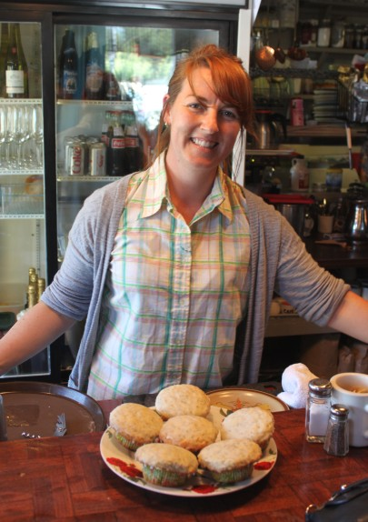 "Wishbone co-owner and chef Miriam Donaldson, of Humble Pie fame, is fighting the good food fight in Petaluma at her new locale in the funky brick building previously occupied by the Three Cooks Café—""Raise up! Eat up! More locally-raised meat, veggies and cheese than you can shake a stick at, a full espresso bar, a fun wine list, and the best record collection this side of 101.""  Photo: Geneva Anderson"