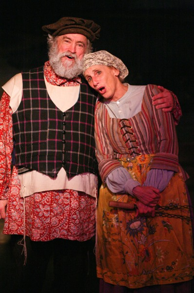 Cinnabar Theater captures the happiness and tears of Fiddler on the Roof with a beautiful production celebrating the show's 50th anniversary.  Stephen Walsh (L) is Tevye and Elly Lichenstein (R) is Golde in the timeless musical which includes 45 incredible singers, dancers, and musicians.  Photo by Eric Chazankin