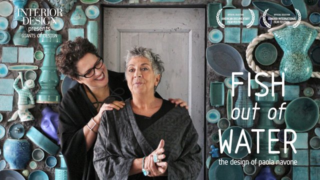 "Cindy Allen's short biopic, ""Fish Out of Water: The Design of Paola Novone"" (2014), premiered in New York at the 2014 Interior Design Hall of Fame.  The 10 minute short showcases the Italian design icon's endless creativity through interviews with Allen, who is the editor-in-chief of Interior Design magazine."