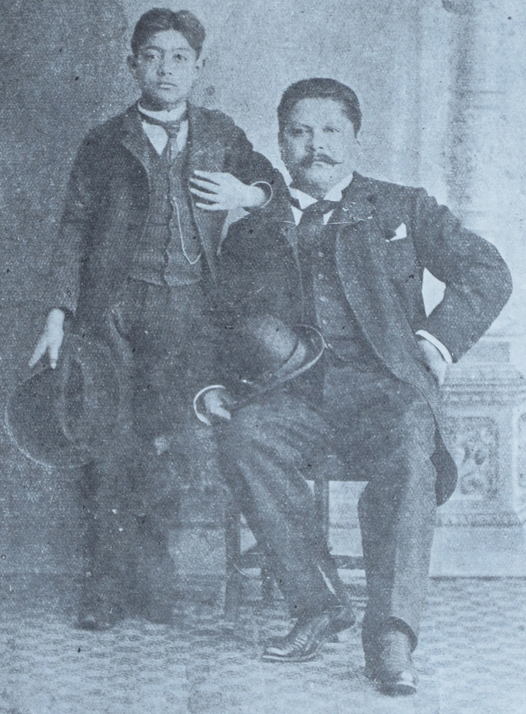 """One of two known images of Mexican artist José Guadalupe Posada (1852-1913), who is pictured with his son.  Posada is the subject of Director Victor Mancilla's documentary """"Searching for Posada: ART and Revolutions,"""" which screens Saturday at the Sonoma International Film Festival.  Photo: courtesy: Jim Nikas"""
