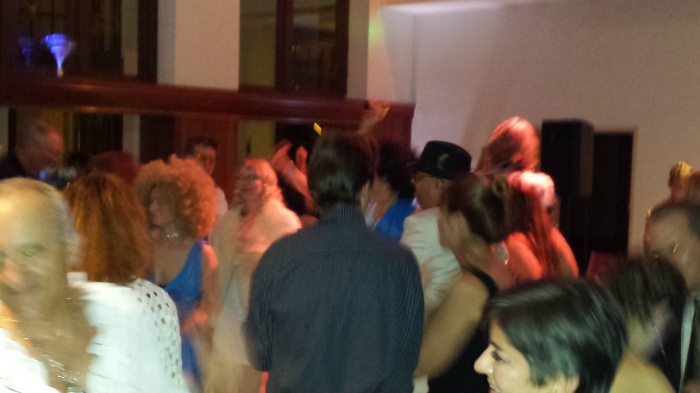 The floor was crowded as people found their groove.