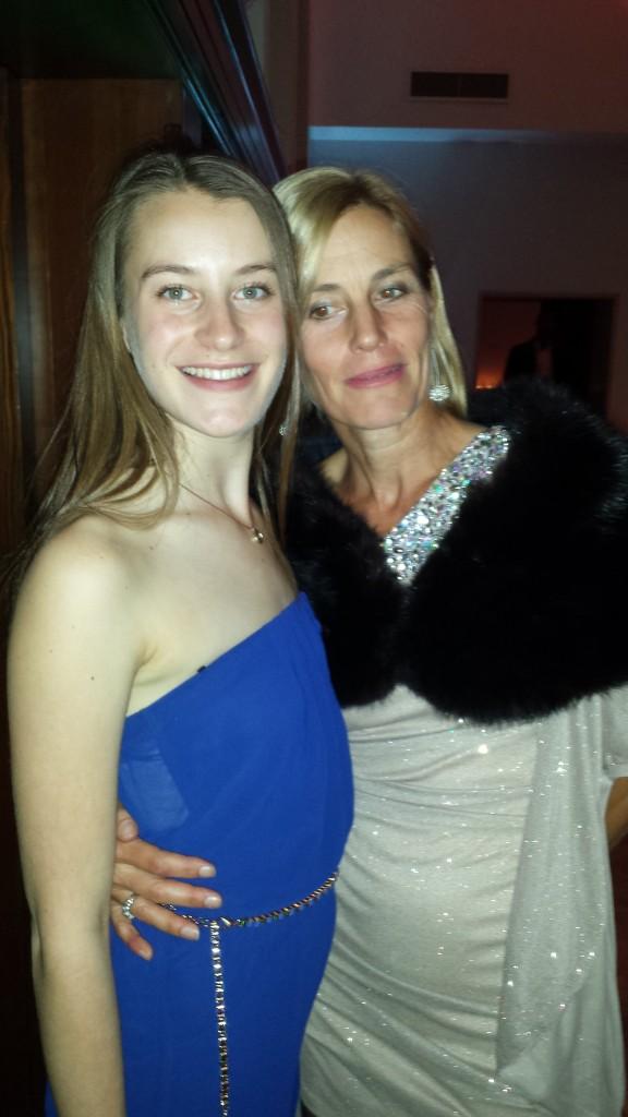 Elizabeth Deming (15) and mom, Diane Evans, executive director Sonoma County Museum.   Bravo Diane!
