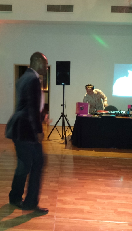 Bryant Key of Oakland helped set-up the sound system for DJ Mancub and then rocked the floor.