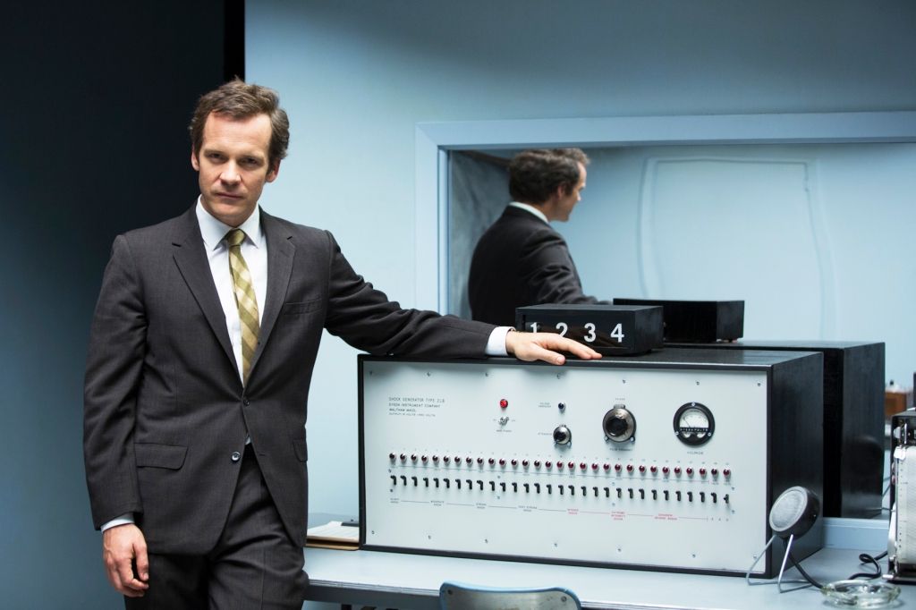 """Peter Sarsgaard is psychologist Stanley Milgram's in Michael Almereyda's """"The Experimenter"""" (2015) which had its acclaimed premiere at Sundance and closes SFIFF 58.  It's been 15 years since Almereyda's astounding """"Hamlet"""" starring Ethan Hawke and similarly, he has conceived Milgram's life and work as a kind of evolving theatre piece.  At one  point, he even has Sarsgaard trailed onscreen by a full-sized adult elephant.  Photo: Courtesy San Francisco Film Society"""